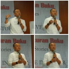 NH menceritakan latar belakang penulisan buku dan mengapa launching buku kali ini diadakan di Cimahi